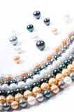 Perles de couleur Photographie stock libre de droits