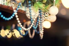 Perles de couleur bleue Photographie stock libre de droits