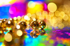 Perles de décoration de Noël Images libres de droits