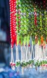 Perles de diverse couleur Photos libres de droits