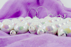 Perles de Noël Photographie stock
