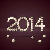 Perles de nouvelle année illustration libre de droits