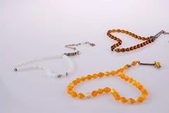 perles de prière en forme de coeur Images stock