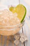Perles de tapioca avec la limette. thé de bulle Photo libre de droits
