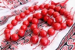 Perles en bois Image libre de droits