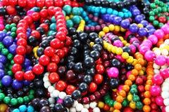 Perles en bois Photographie stock libre de droits