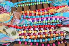 Perles en bois colorées Photographie stock libre de droits
