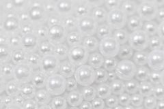 Perles blanches Photo stock