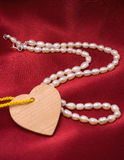 Perles et coeur Images libres de droits