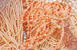 Perles et coraux Photo libre de droits