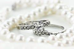 Perles et diamants Photos stock