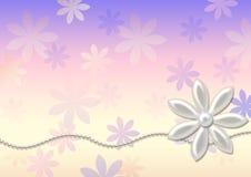 Perles et fleurs - fond. Photo libre de droits