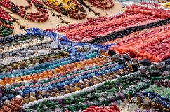 Perles faites de pierres naturelles Photos libres de droits