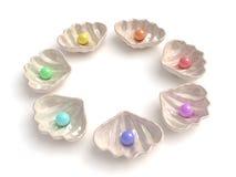Perles multicolores Image libre de droits