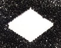 Perles noires Photos libres de droits