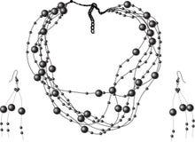 Perles noires Photo stock