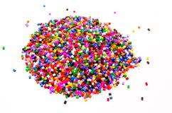 Perles polychromes Photographie stock libre de droits