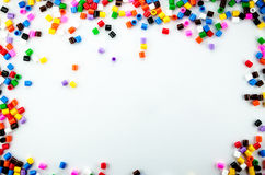 Perles polychromes Images libres de droits