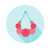 Perles pour l'icône de femme Beauté et accessoires Image libre de droits