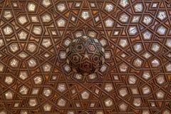 Perlez la décoration dans la mosquée bleue, Istanbul, Turquie Images libres de droits