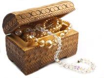 Perlez le trésor de jewelery Image stock