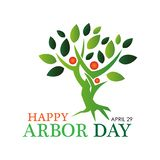 Happy arbor day stock background. March 21. vector illustration. - Vector. EPS file available. see more images related royalty free illustration