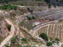Perlite di estrazione mineraria Fotografia Stock Libera da Diritti