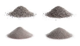 Perlite ore. Unprocessed perlite ore. Grades clockwise from top left: 8/12, 12/16, 16/30 and 30 Royalty Free Stock Images