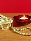 Perls e vela Imagem de Stock