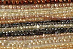 Perls necklate texture. As nice fashion background Stock Photography