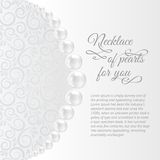 Perls on a white background. royalty free illustration