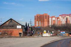 Perm, Ρωσία - 16 Απριλίου 2016: Ατελής νέος κατοικημένος σύνθετος στοκ φωτογραφία με δικαίωμα ελεύθερης χρήσης