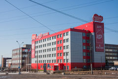 Perm, Ρωσία - 16 Απριλίου 2016: Οικοδόμηση του εργοστασίου βιομηχανιών ζαχαρωδών προϊόντων Στοκ φωτογραφίες με δικαίωμα ελεύθερης χρήσης