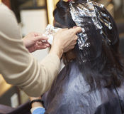 Perm in a beauty salon Royalty Free Stock Photo
