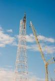 PERM, ROSJA, Feb, 06 2016 budowa nowe komunikacje Zdjęcie Stock