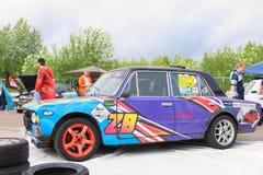 PERM ROSJA, JUL, - 22, 2017: Konkurenta samochód Zdjęcie Stock