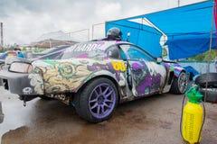 PERM ROSJA, JUL, - 22, 2017: Sportowy samochód z graffiti Fotografia Stock