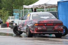 PERM ROSJA, JUL, - 22, 2017: Sportowy samochód z obrazem Fotografia Royalty Free