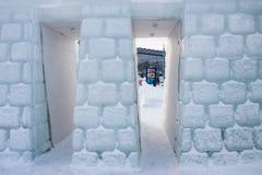 PERM, Rosja Luty, 06 2016: piękne lodowe rzeźby Fotografia Stock