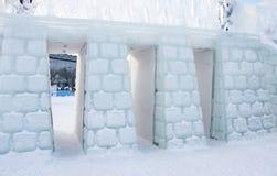 PERM, Rosja Luty, 06 2016: piękne lodowe rzeźby Obrazy Royalty Free