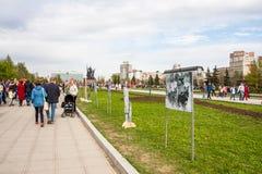 Perm Rosja, Maj, - 09 2016: Aleja pamięć chwała na holid Obraz Stock