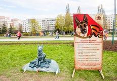 Perm Rosja, Maj, - 09 2016: Aleja pamięć psy podczas Obraz Stock