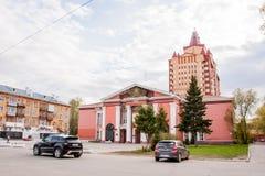 Perm Rosja, Maj, - 09 2016: Dom oficery w ulicie Obraz Royalty Free