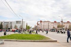 Perm Rosja, Maj, - 09 2016: Ludzie na wakacje Zdjęcie Royalty Free