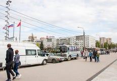Perm Rosja, Maj, - 09 2016: Ludzie na wakacje Fotografia Royalty Free
