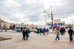 Perm Rosja, Maj, - 09 2016: Ludzie na wakacje Zdjęcie Stock
