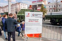 Perm Rosja, Maj, - 09 2016: Ludzie przy wystawą Zdjęcia Royalty Free