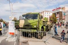 Perm Rosja, Maj, - 09 2016: Ludzie przy wystawą Obrazy Stock