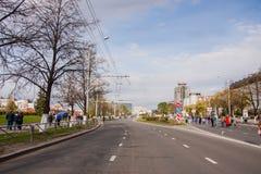 Perm Rosja, Maj, - 09 2016: Ludzie spaceru wzdłuż ulicznego Lenin Obraz Royalty Free