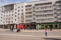 Perm Rosja, Maj, - 09 2016: Ludzie spaceru wzdłuż ulicznego Lenin Obrazy Stock